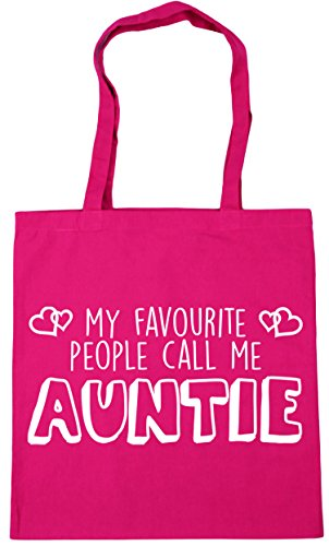 Bag x38cm People 10 My HippoWarehouse Shopping litres Call Favourite Tote Auntie Fuchsia Me 42cm Gym Beach qvxwfR