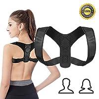 CybGene Back Brace Posture Corrector for Women and Men, Adjustable Body Wellness Posture Support, Upper Back Straightener Under Cloth (Size S/M)