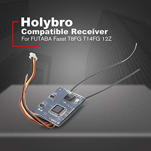 Wikiwand Holybro Compatible Receiver for FUTABA Fasst T8FG T14FG 12Z T18MZ for RC Drone by Wikiwand (Image #1)