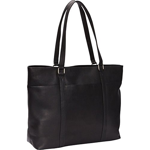 Le Donne Leather Women's Laptop Tote Bag, Black, Medium by Le Donne Leather