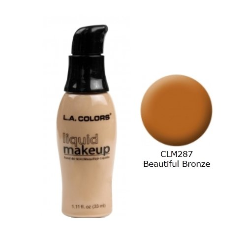 アコーキモいながら(3 Pack) LA COLORS Liquid Makeup - Beautiful Bronze (並行輸入品)