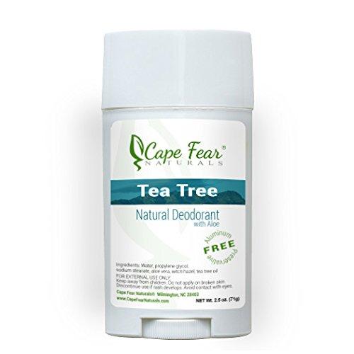 Cape Fear Naturals Tea Tree Natural Deodorant Stick, 2.5oz Stick, Aluminum Free, Preservative Free