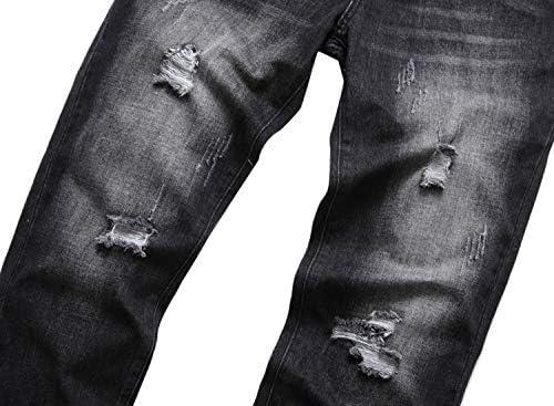 41yWiiyT8jL. AC LAVIKS Men's Ripped Slim Fit Cozy Jeans    Product Description