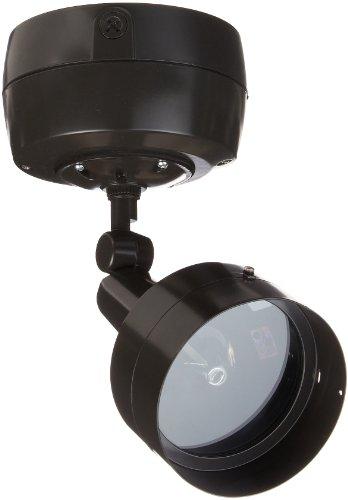 RAB Lighting H1HN70HA H1 Metal Halide HID Floodlight with Hood, PAR38 MH Type, Aluminum, 70W Power, 4800 Lumens, 120V, Bronze Color