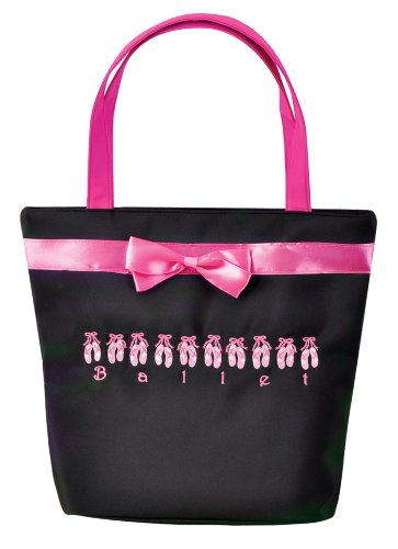 Dansbagz Lined up for Ballet Tote Bag One Size Pink