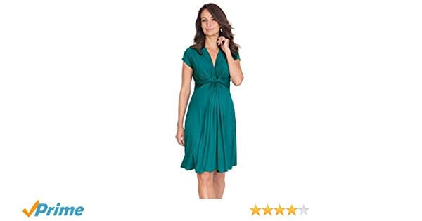 Seraphine Maternity Womens Green Knot Front Maternity Dress-10 at Amazon Womens Clothing store:
