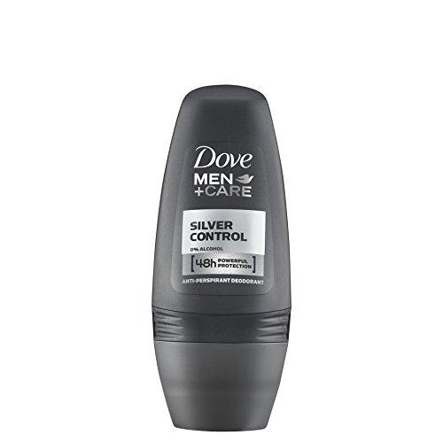 (Dove Roll Anti Perspirant Anti Transpirant Men Care Powerful Protection (Silver Control, 6X50Ml/1.7 Oz))