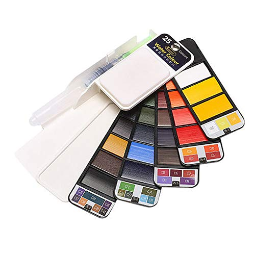 - Yattafasion Valentine's Best Gift Powder Watercolor Paint Collapsible Transparent Solid Watercolor