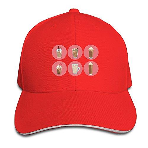 funny-peaked-sandwich-cap-ice-coffe-circle-pink-unisex