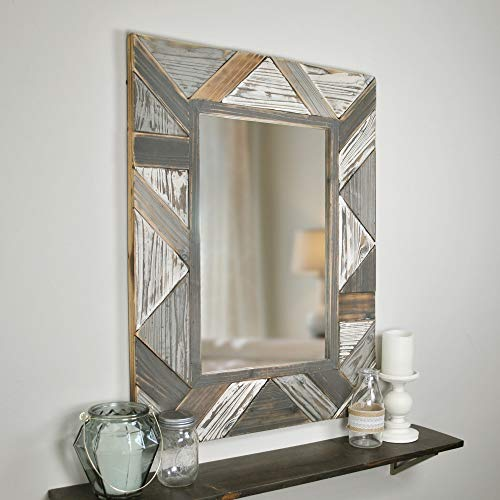 (FirsTime & Co. 70018 FirsTime Silas Salvaged Planks Mirror, 31.5
