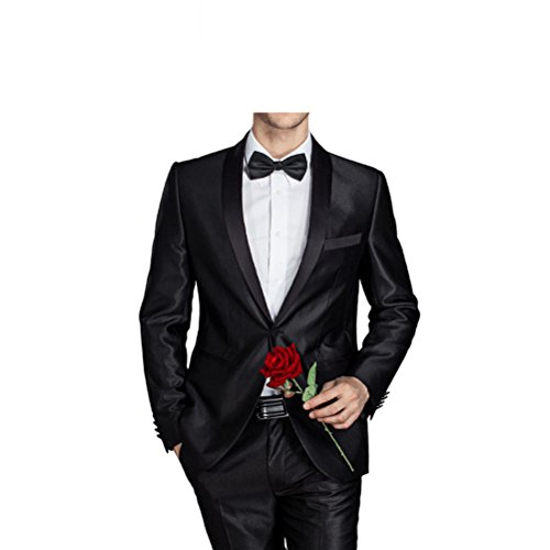 577Loby Men Groom Wedding Suit Men Fashion Slim Fit Dress Suit 2 Pieces(Jacket+Pants) by 577Loby
