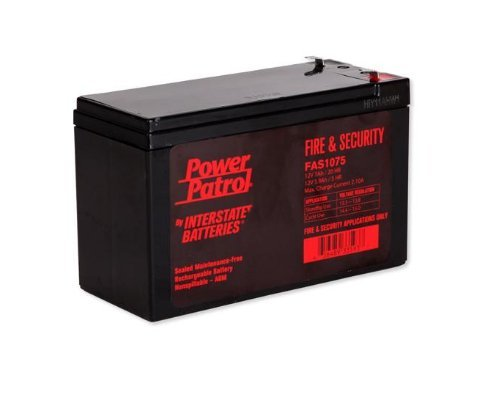 Power Patrol Lead Acid Battery, FAS-1075, 12V 7Ah