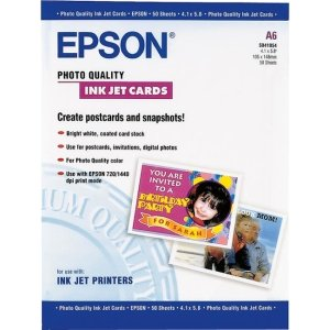 Epson Ultra Smooth Matte Heavy Weight Photo Mailing Inkjet Cards, 4.1