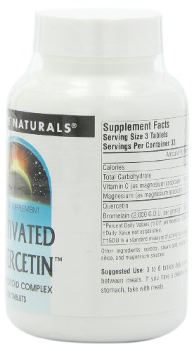 Source Naturals Activated Quercetin Bioflavonoid Complex Antioxidant & Anti Inflammatory Supports Histamine Intolerance & Healthy Immune & Histamine Levels Anti Allergenic Response 100 Tablets
