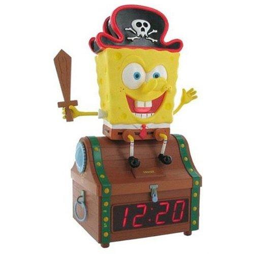 Emerson Spongebob Treasure Chest Clock Radio