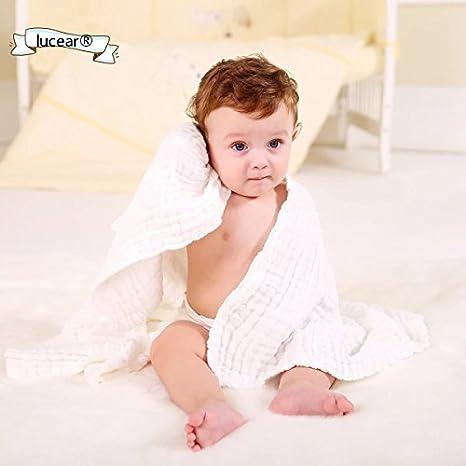 Lucear Serviettes de bain en mousseline de coton pour nouveau-n/é Couvertures b/éb/é