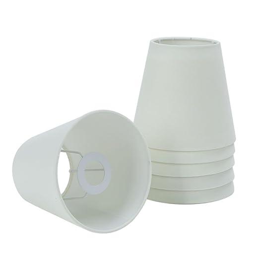 Fuloon - Juego de 6 pantallas para lámpara, casquillo E14, para lámpara de araña, aplique, candelero: Amazon.es: Hogar