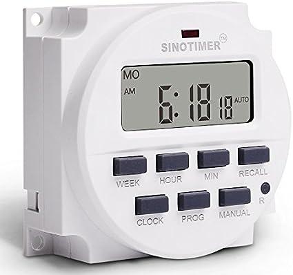 KINGDUO 12V 24V 110V 220V Memoria Programable Planta Patio Lámpara Temporizador Automático Ciclo Tiempo Controlador-24V