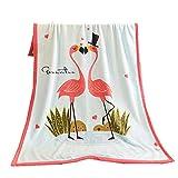 Stillshine Baby blanket, very soft blanket flannel blanket, crib/pram soft bed, newborn gift, sofa blanket children's blanket nap blanket sheets 100 x140 cm (flamingo)