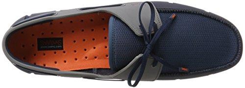 Swims Herren Boat Loafer Slipper Blue (Navy/Blitz Blue/White)