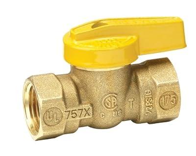 Homewerks VGV-1LH-B2B Premium Gas Ball Valve, Female Thread x Female Thread, Brass, 3/8-Inch