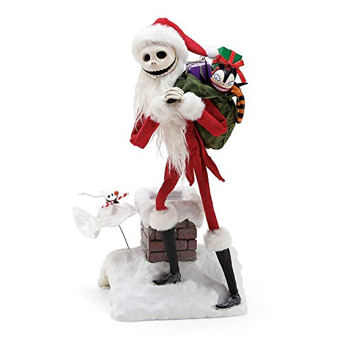Department 56 Nightmare Before Christmas Jack and Zero Deliveries, 15 Figurine, Multicolor