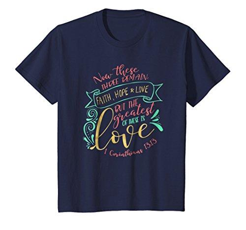 Kids Faith Hope & Love | Christian Scripture Lettering S500436 12 Navy
