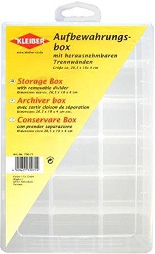 Kleiber - Aufbewahrungsbox für Garn / Knöpfe mit entfernbarer Trennvorrichtung  aus Kunststoff