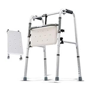 Silla de Ducha Plegable, Andador geriátrico para Ancianos: Marco ...