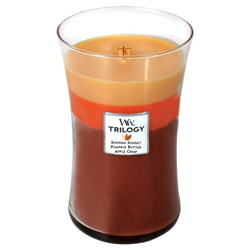 Autumn Comforts WoodWick Trilogy 21.5 oz Scented Jar Candles - 3 in One by Woodwick Candle