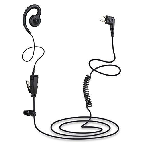 Walkie Talkie Earpiece by Tomsenn | Walkie Talkie Headset Walkie Talkies Earpiece Walkie Talkie Accessories | Walkie Talkie Swivel Earpiece with Microphone and PTT for Motorola Two Way Radio
