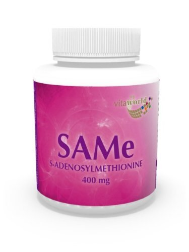 3 Pack SAMe 400mg 180 vegetarian Capsules S-adenosylmethionine German pharmacy production by Vita World