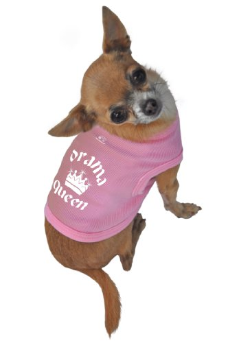 Doggie Tank Top, Drama Queen, Pink, Small 4 Dog T-shirt