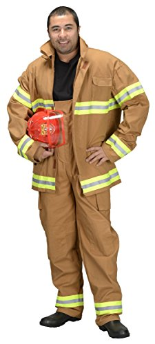 Aeromax Adult Fire Fighter Suit, Tan, Small]()