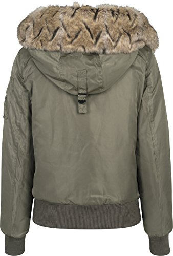 Grn Fur Imitation Bomber Darkolive Femme Veste 551 Urban Ladies Jacket Classics 8qt4U4