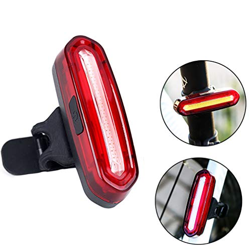 BuryTony 120LM Super Bright LED Bike Rear Light Red/Blue 6 Light Mode Waterproof USB Rechargeable - Helmet Light Accessories Cycling Safety Flashlight