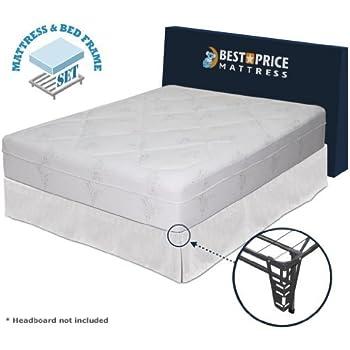 this item best price mattress 12 memory foam mattress new innovative box spring platform metal bed framefoundation set queen - Bed Frames With Mattress Included