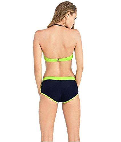 ZOYOL-YT Bikini Swimsuit Steel Brackets Cofres Reunir Dos Juegos De Traje De Baño Atractivo De ángulo Plano