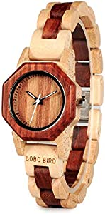 Win A Free Womens Wooden Watches Red Sandalwood Lightweight Wood Watch...