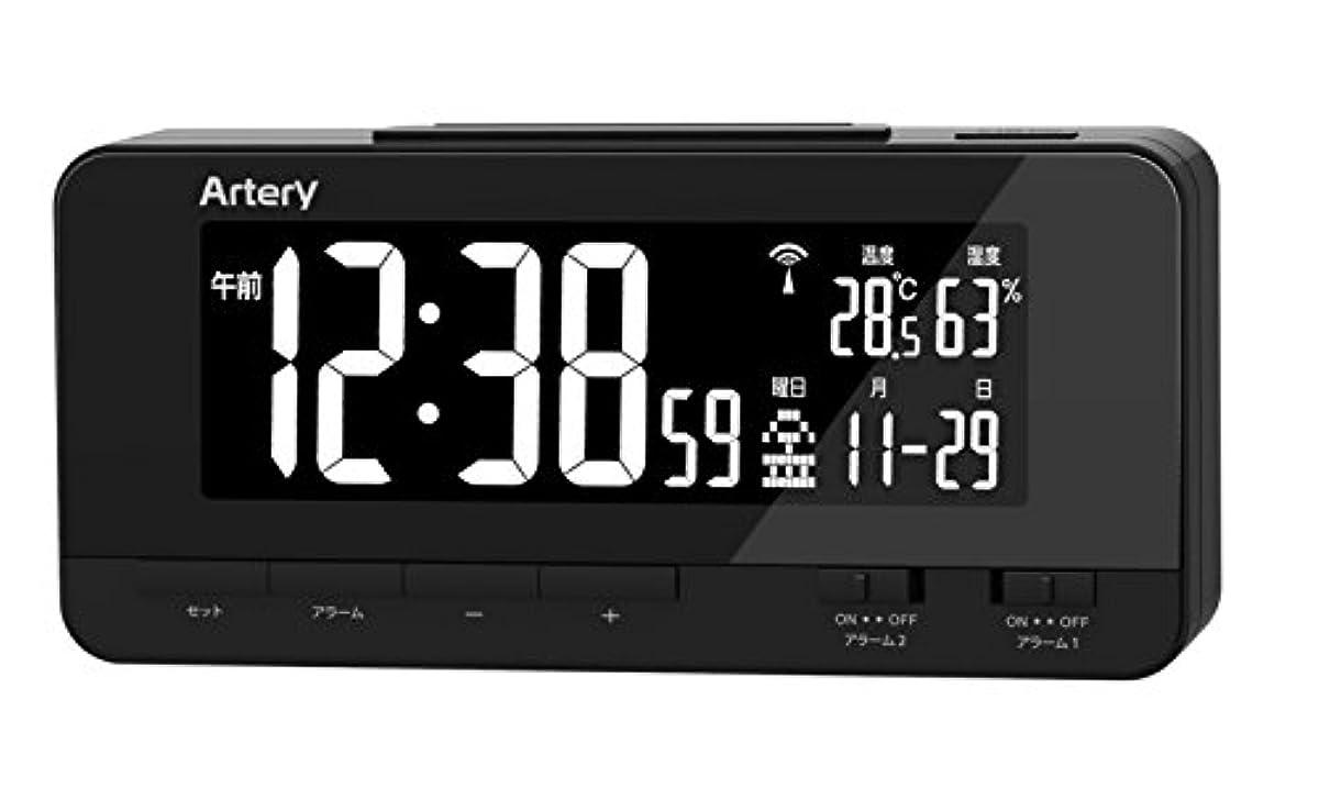 [해외] ADESSO아뎃소 레인보우 디스플레이 전파 시계 블랙 FS-01 BK