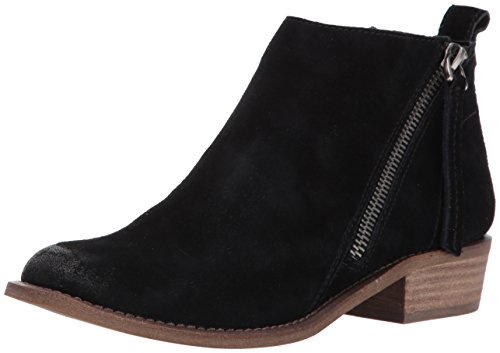Black Suede Bootie - Dolce Vita Women's Sibil Ankle Bootie, Black Suede, 8 M US