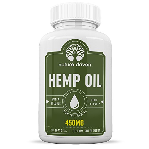 Cheap Hemp Oil Soft Gels for Pain – Easy-Swallow Capsules – All-Natural Ingredients – 450mg Per Bottle – Contains Omega 3 & 6 Fatty Acids – 30 Day Supply – Nature Driven