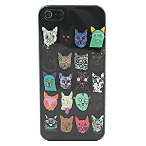 LZX Beautiful Cartoon Animal Pattern PC Back Case for iPhone 5
