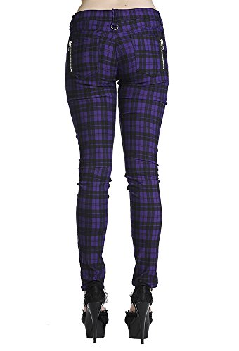 Check Jeans Banned Skinny Vaqueros Apparel Morado Pantalones q55TaAn