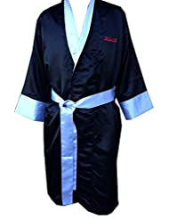 Boxing Robe - Black with White Trim (Small)