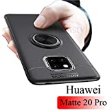 Mobistyle Sleek Rubberized Case with Ring Stand Back Cover Case for Huawei Mate 20 Pro/Huawei Mate20 Pro - (Gun Black)