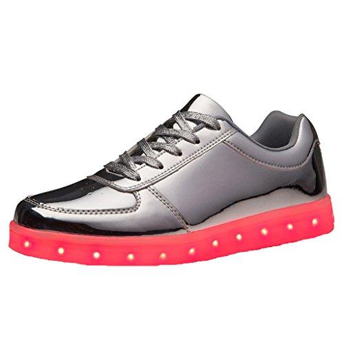 [Present:kleines Handtuch]JUNGLEST® [Led Schuhe] Unisex Männer Frauen USB-Lade 7 Farbwechsel LED beleuchteter Licht Paar beiläufige Spo c11