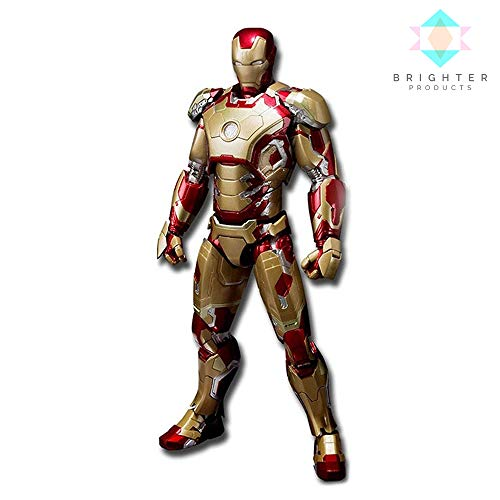 Brighter Products Action Figures   S.H. Figuarts Iron Man Mark 42 Collectible Model with Sofa ()