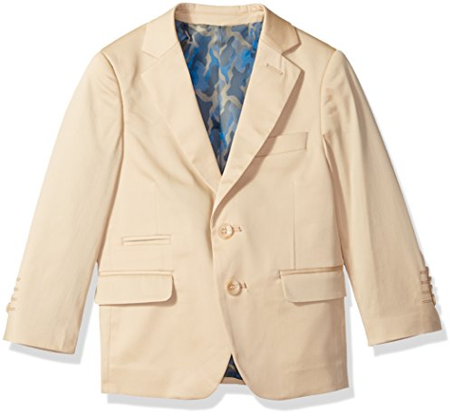 Isaac Mizrahi Boys' Little Classic Cotton Blazer, tan ()
