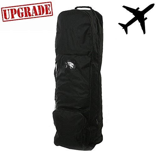 zeudas Golf Travel Bags for Airlines with Wheels (1680D Nylon)